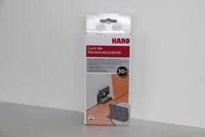 Clips für Sockelleisten Haro